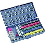 Lansky Kit d'affûtage couteaux comprenant 5 pierres d'affûtage , pince de lame, guide des pierres d'affûtage, huile d'aiguisage, coffret de transport