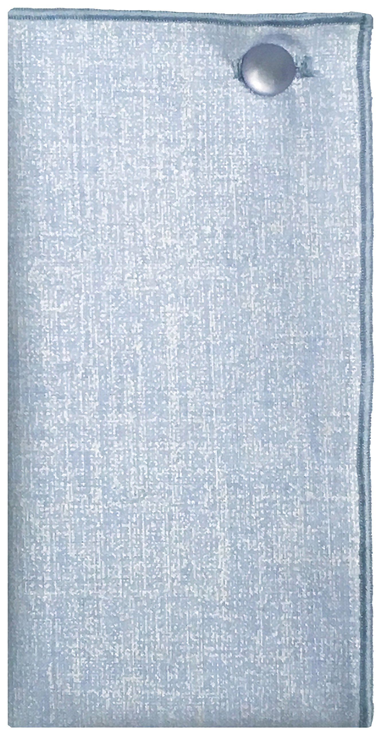 Light Blue Textured Print w/ Pale Blue Button Mens Pocket Square The Detailed Male