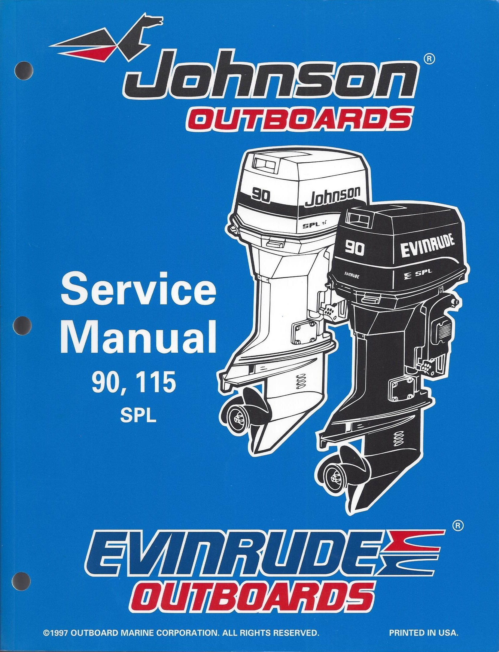 "Johnson Evinrude Outboards ""EC"" 90, 115 SPL Service Manual P/N 520209:  Amazon.com: Books"