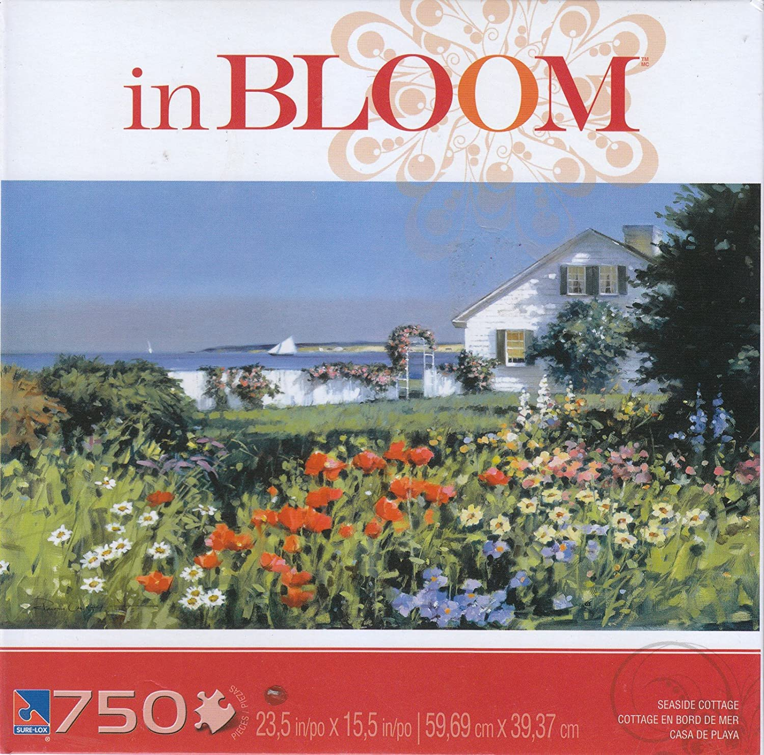 In Bloom 750 Piece Jigsaw Puzzle: Seaside Cottage