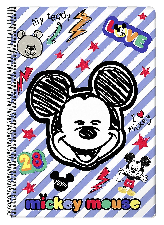 "Mickey Mouse /""Maker/"" Offizielles Notizbuch 80 Blatt Hardcover 215 x 310 mm"