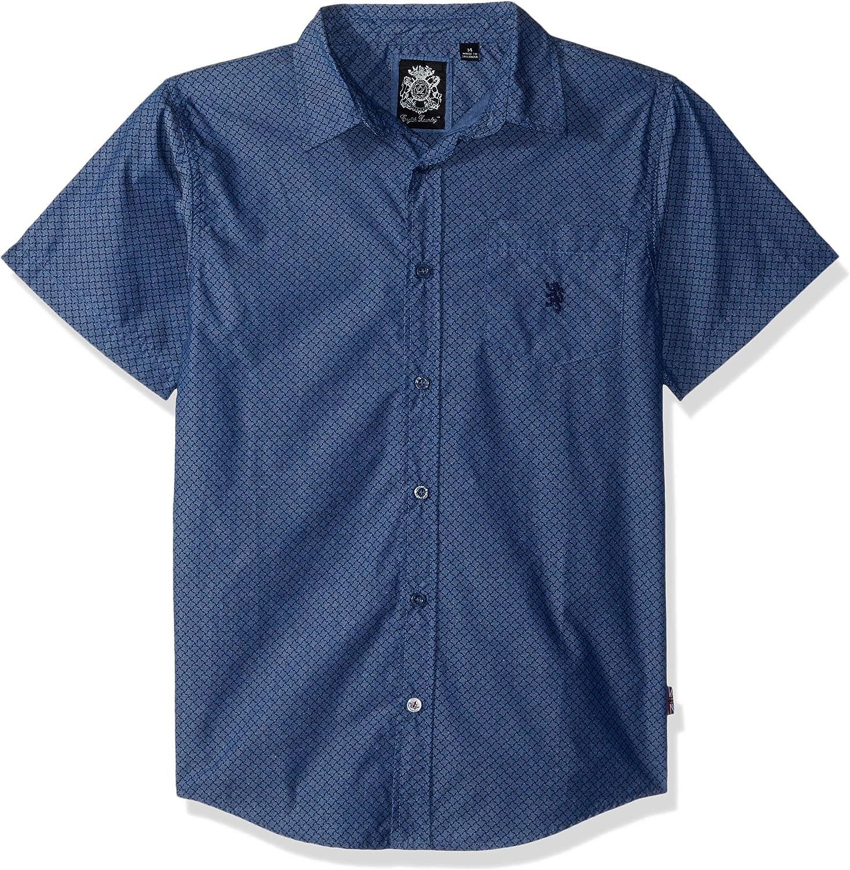 English Laundry Boys' Short Sleeve Printed Woven Shirt
