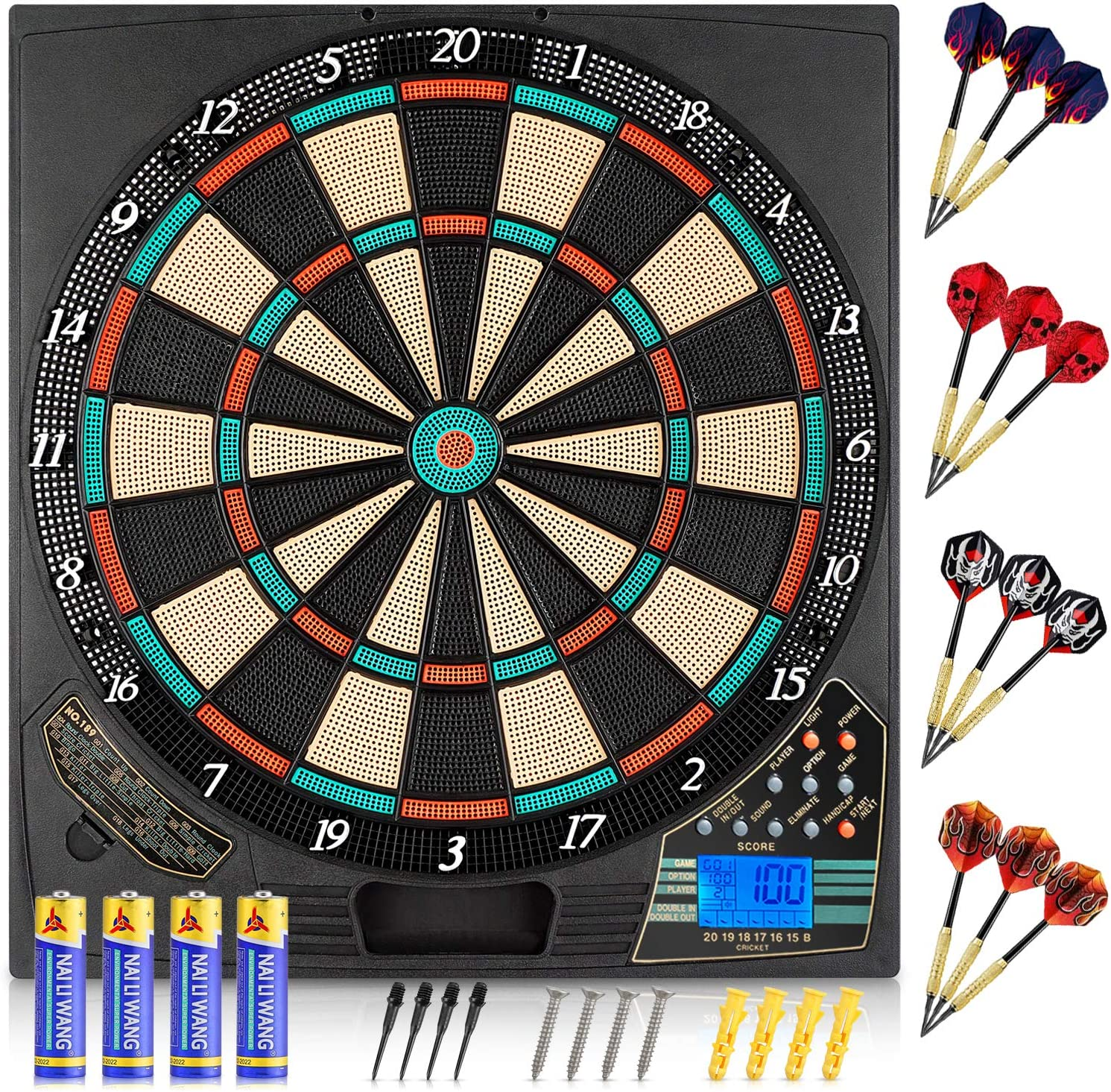 Xdodnev 100pcs Nylon Electronic Darts Tip 25mm 2BA Soft Tip Dartboard Game Accessories