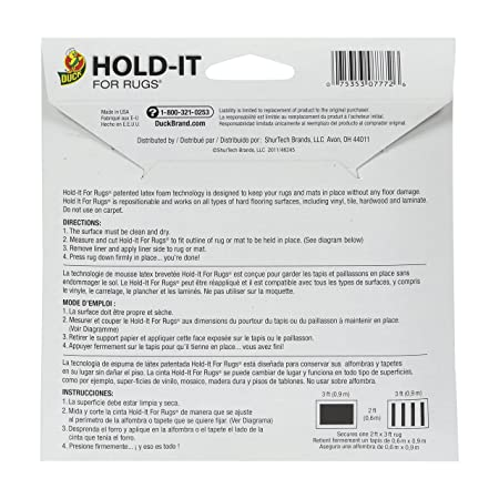 Amazon.com: Duck Brand 260485 Hold-It Adhesive for Rugs, 10 by 20 ...