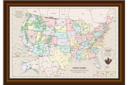 Personalized Us Map.Amazon Com United States Map With Push Pins Personalized Us