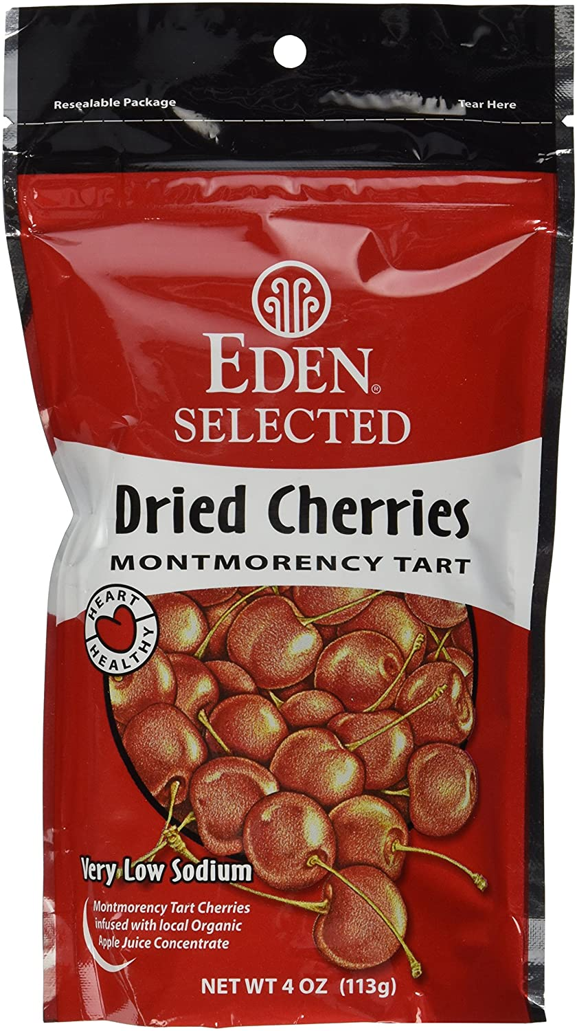 Eden Selected Dried Montmorency Cherries, 8-Ounce Pouches (Pack of 8)