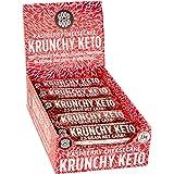 Krunchy Keto Bar - 3gram Net Carb Raspberry Cheesecake with Collagen (6%) 1.23 oz (35 gr), 15 Count Box - No Added Sugar - Ke