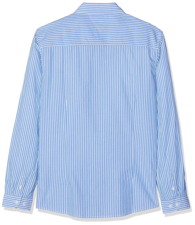 TOMMY HILFIGER Boys Blue Stripe Shirt L//S Camicia Bambino