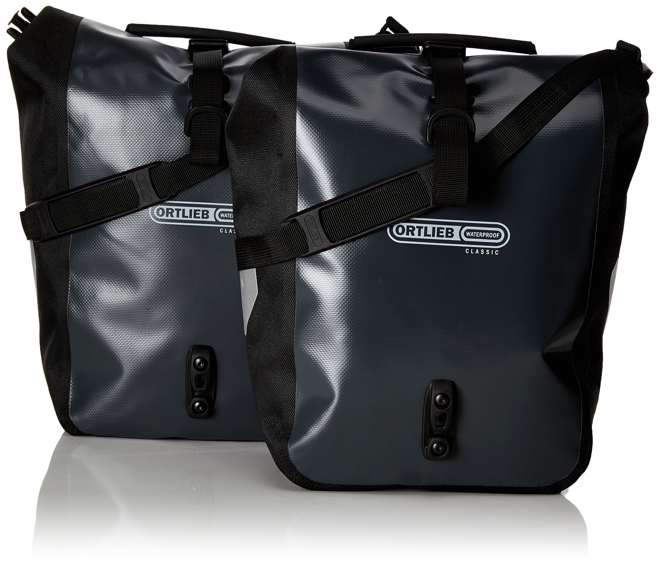 Ortlieb Front-Roller Classic QL2.1 Panniers (pair) ASPHALT-BLACK #F6305