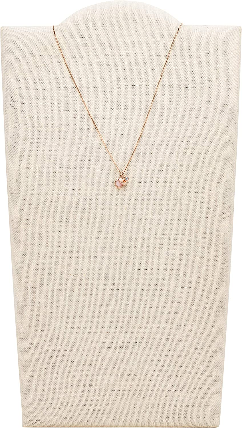 Fossil Womens Quartz Heart and Charm Necklace