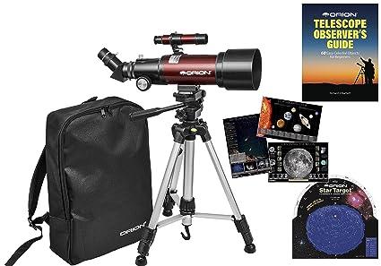 Amazon orion goscope iii mm refractor travel telescope kit
