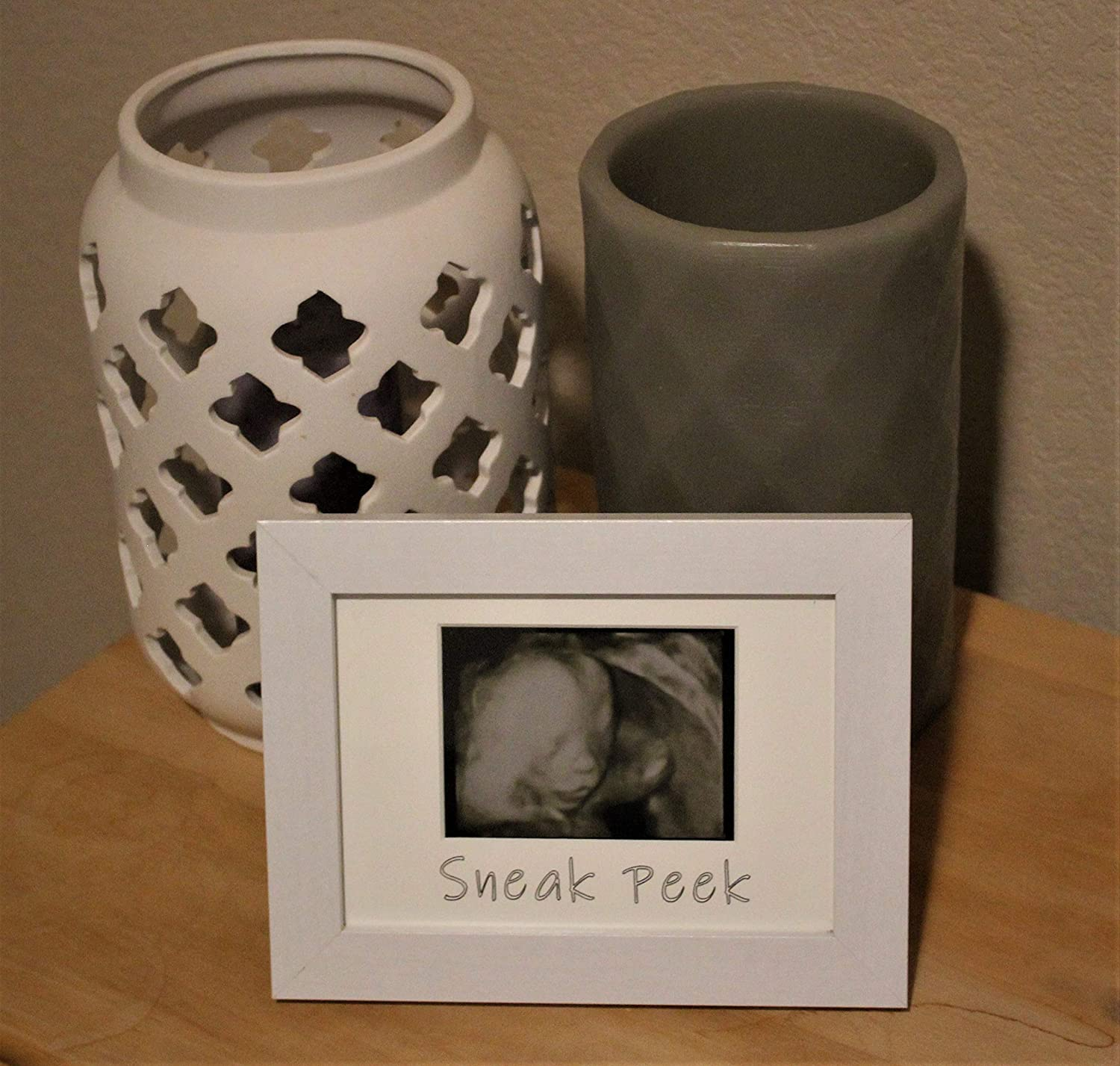 Ultrasound Picture Frame Gift for Expecting Parents Sonogram Picture Frame White Trove Logic Sneak Peek