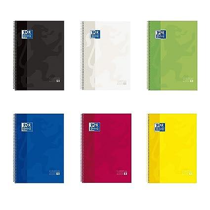 Oxford School - Cuaderno espiral 80 hojas y cuadricula, A4, 5 x 5 ...