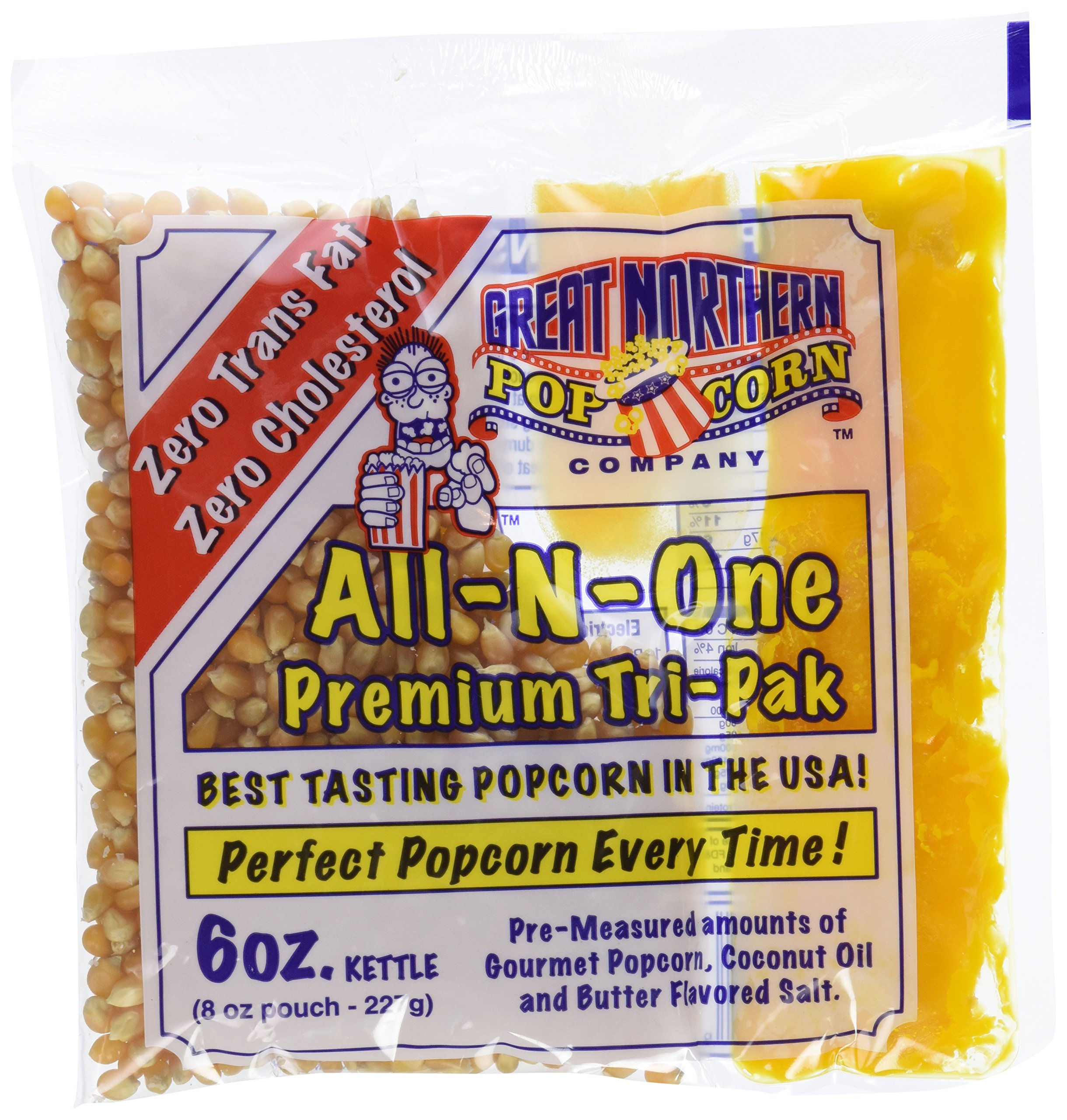 4067 Great Northern Popcorn 1 Case (12) of 6 Ounce Popcorn Portion Packs Kit Cinema by Great Northern Popcorn Company