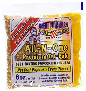 4067 Great Northern Popcorn 1 Case (12) of 6 Ounce Popcorn Portion Packs Kit Cinema
