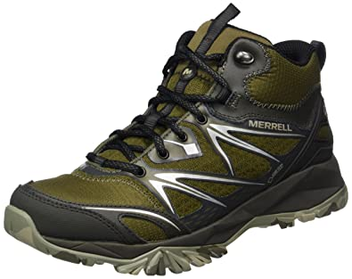 Merrell Capra Bolt Mid GTX Walking Shoes UK 7 Dark Olive