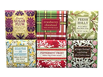 Amazon.com : Christmas Holiday Winter Mini Soap Square Gift Set ...