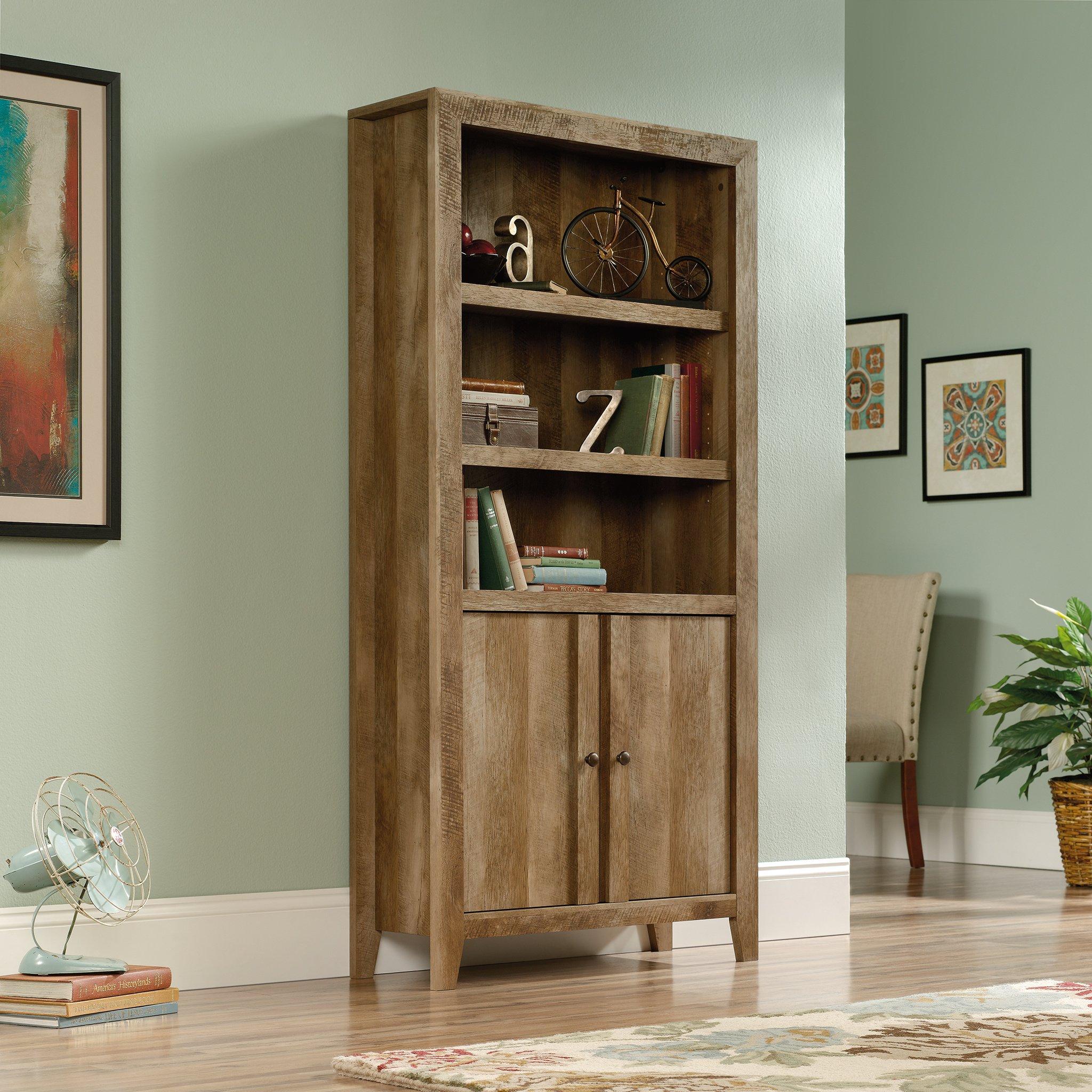 Sauder 420409 Dakota Pass Library with Doors, L: 33.82'' x W: 12.52'' x H: 71.10'', Craftsman Oak Finish by Sauder (Image #3)