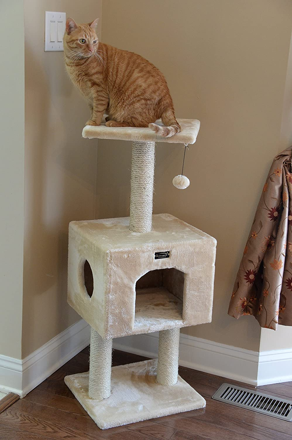 Amazon.com : Armarkat Cat Tree Model A4201, Beige : Cat Tower : Pet Supplies