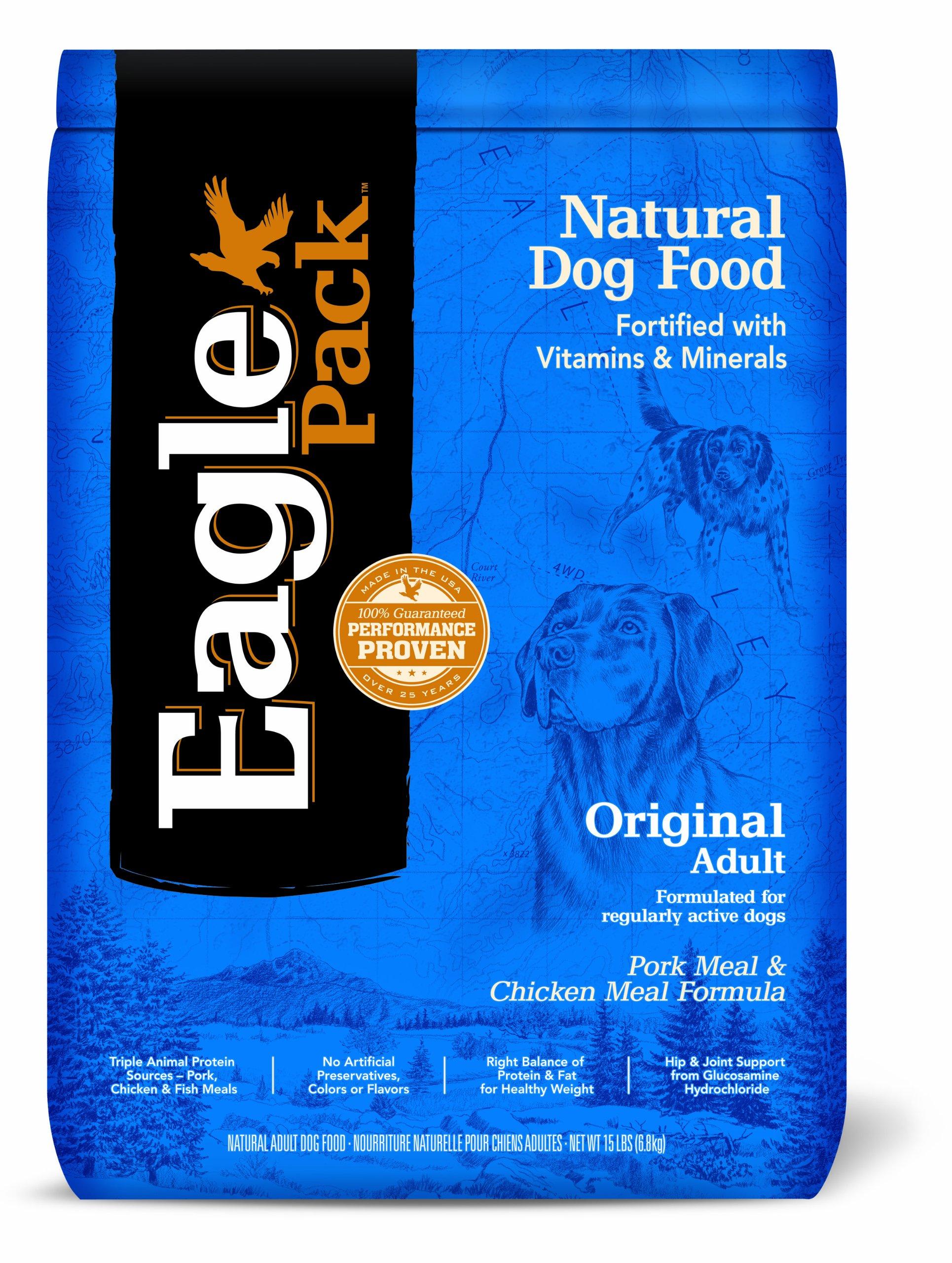 Eagle Pack Natural Pet Food, Original Adult Pork Meal and Chicken Meal Formula for Dogs, 15-Pound Bag