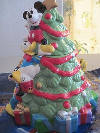 Amazon.com: Disney Christmas Cookie Jar Mickey Mouse Donald ...