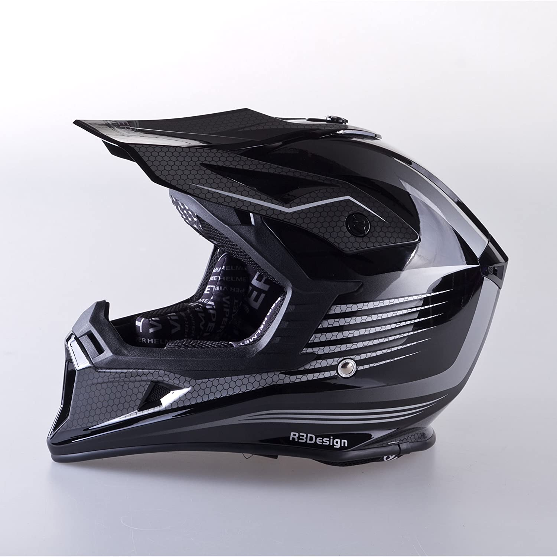 Amazon.es: VIPER RS X95 MOTOCROSS MOTO QUAD ATV DIRT ENDURO OFF ROAD DEPORTE CARRERAS MOTO CASCO NEGRO (L (59-60 CM))