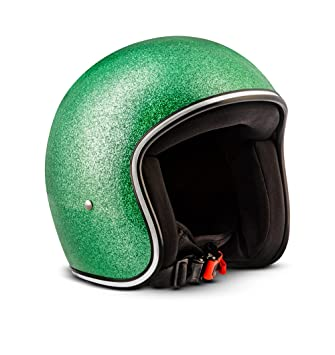 Rebel R2-Flakes – Casco retro de motocicleta scooter Vespa,