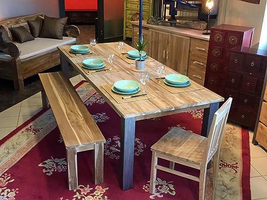 opium outlet - Mesa de Comedor o Cocina de Madera de Teca con 4 ...
