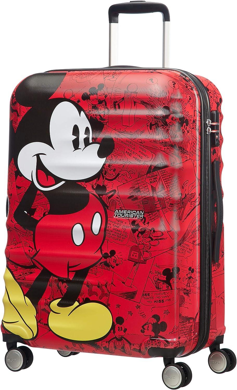American Tourister Disney Wavebreaker - Maleta Infantil, Spinner M (67cm - 64 L), Multicolor (Mickey Comics Red)