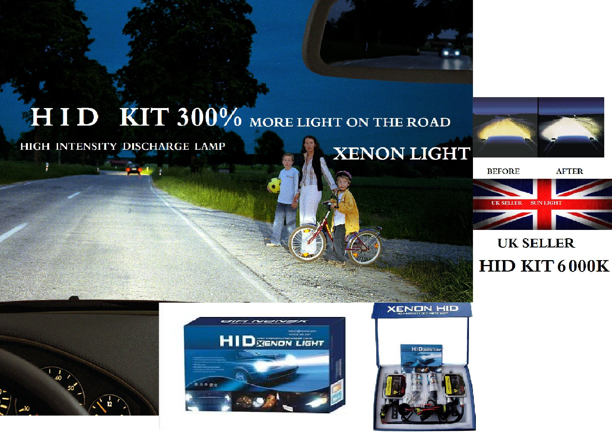 H4 BI XENON HID CONVERSION KIT LEXUS LS400 90-98