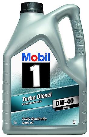 Mobil 1 151041 Turbo Diesel - Aceite sintético de motor turbodiesel (0W-40,