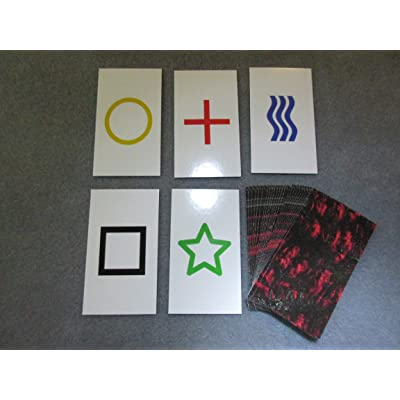 1PK E03C Low Cost Zener Style UNMARKED ESP Testing Cards - not Marked - not a Magic Trick: Toys & Games