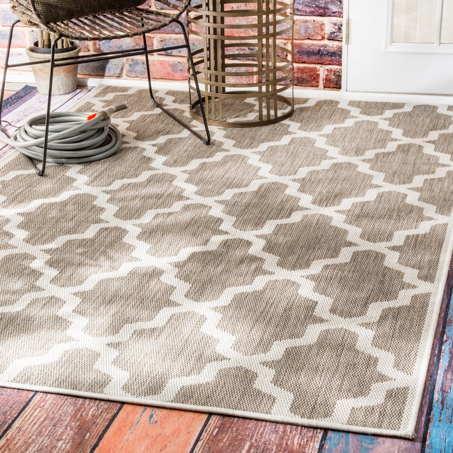 nuLOOM Gina Moroccan Outdoor Rug, 5 3 x 7 6 , Taupe