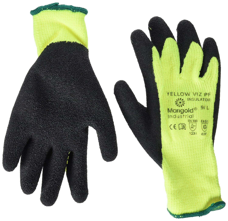 Sachet de 6 paires Taille 8 Ansell Viz PF Insulator Yellow Gants pour usage sp/écifique protection m/écanique Noir