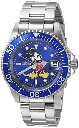 Wind Self Steel Stainless StrapSilver14model24608 Automatic Men's With Limited Disney Watch Edition Invicta 5LA4jR3