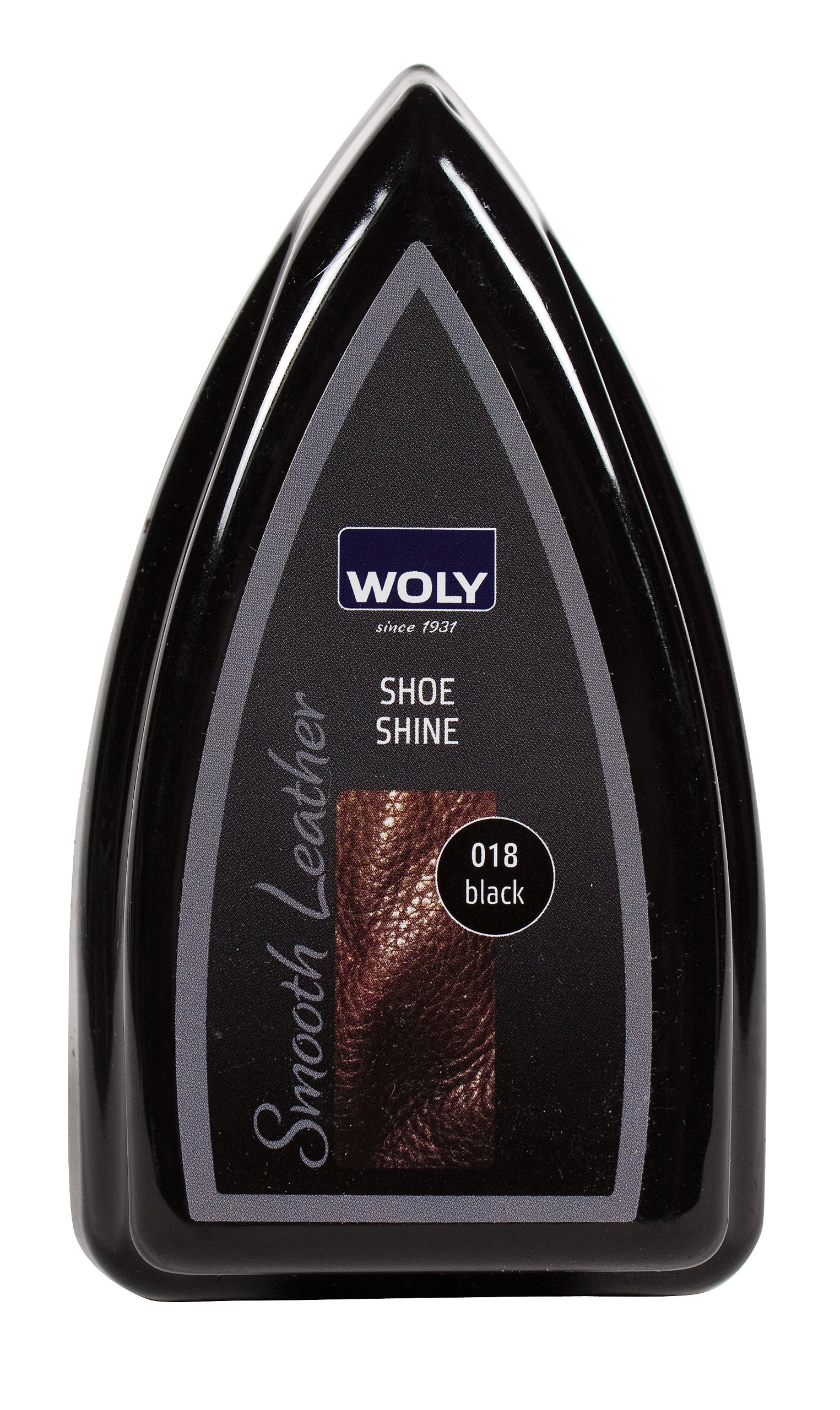 Woly Black Travel Shoe Shine Sponge.Glossy Shine for Designer Shoes. Made in Germany. Small size for travelling.