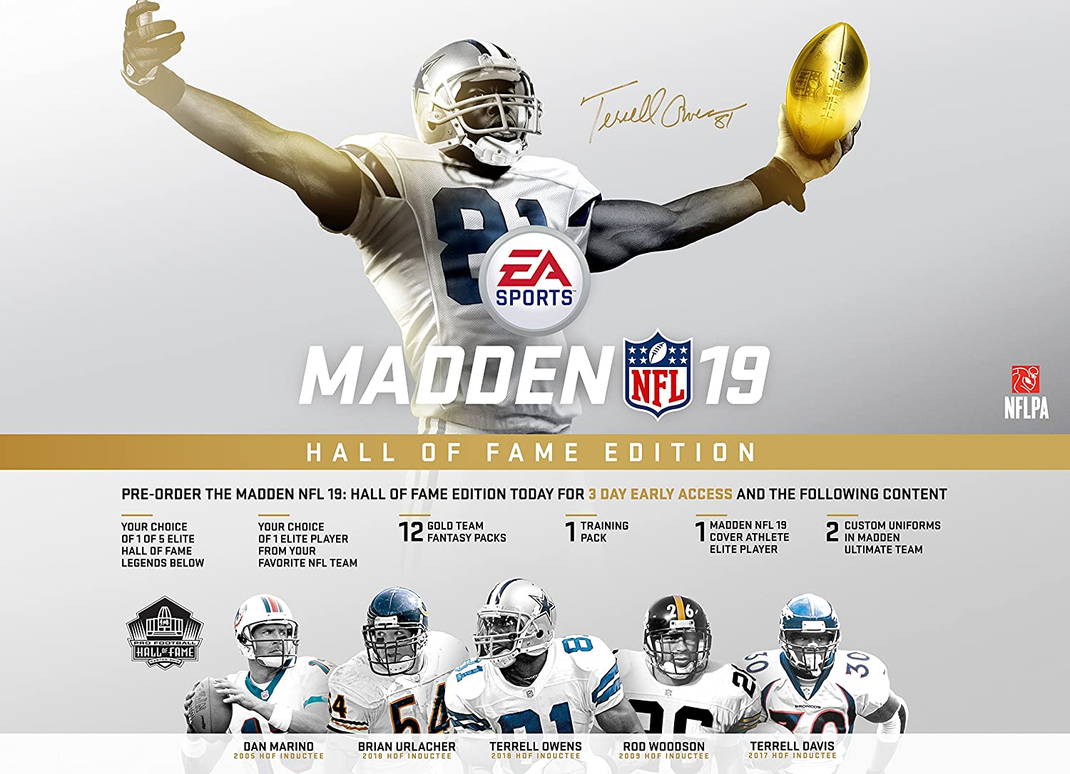 a452f2dbf7 Amazon.com  Madden NFL 19  Hall of Fame Edition - PS4  Digital Code   Video  Games
