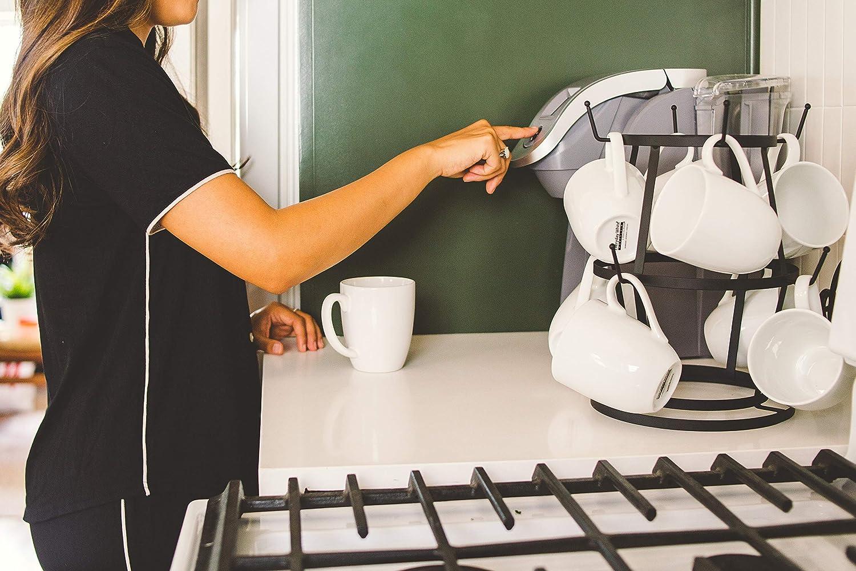 AniU platillos para cocina sala de estar o encimera t/é Soporte para tazas de acero inoxidable escurridor para tazas de caf/é