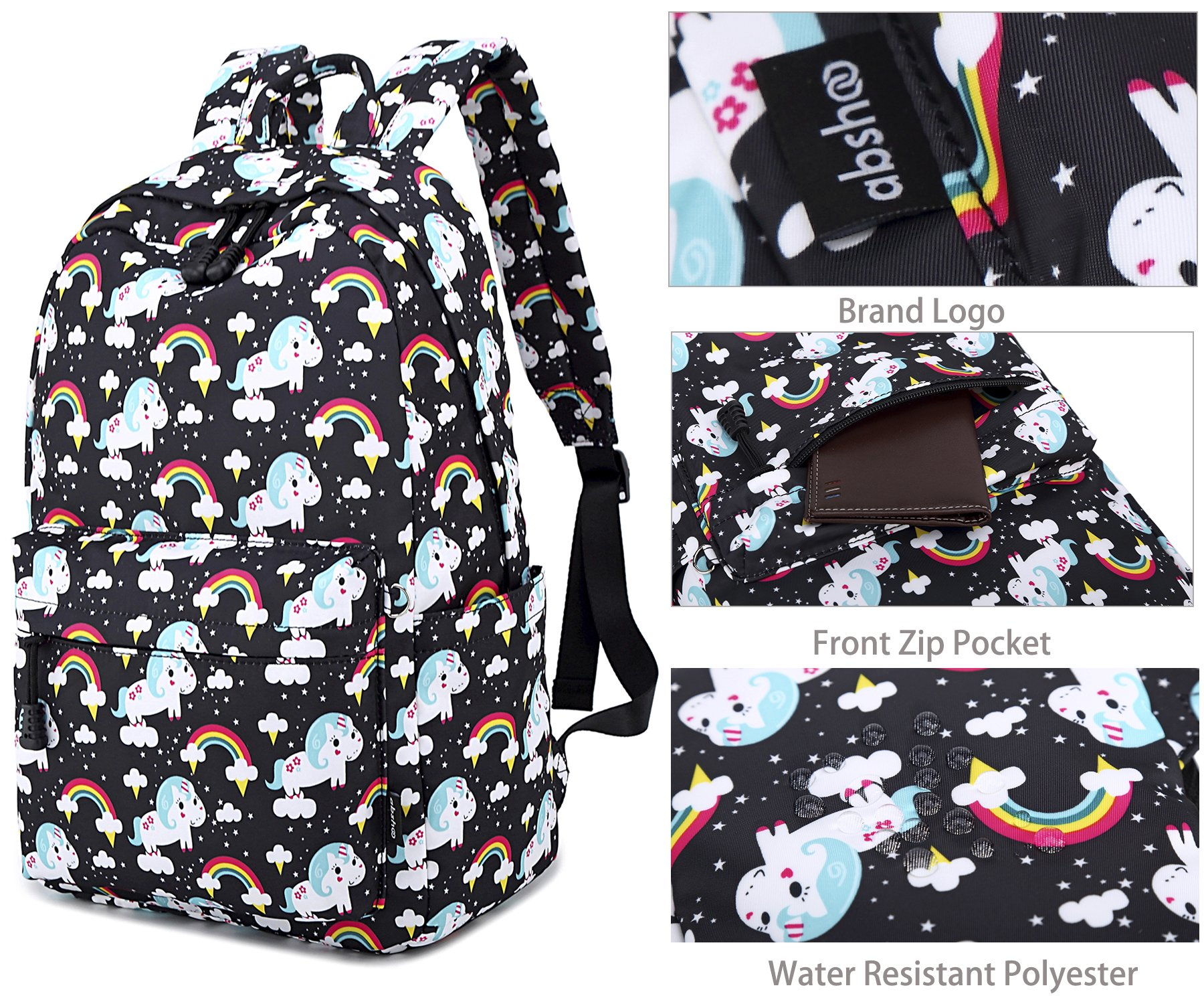 Abshoo Cute Lightweight Unicorn Backpacks Girls School Bags Kids Bookbags 7