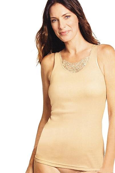 suche nach original suche nach authentisch abgeholt WB Esmara® Lingerie Damen Unterhemd mit Edler Stickerei ...