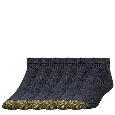 6e1a5da891ec8 Gold Toe Men's Big and Tall 656P Cotton Quarter Athletic Socks, 6 Pack,  Black Shoe Size: 12-16 Size: 13-15