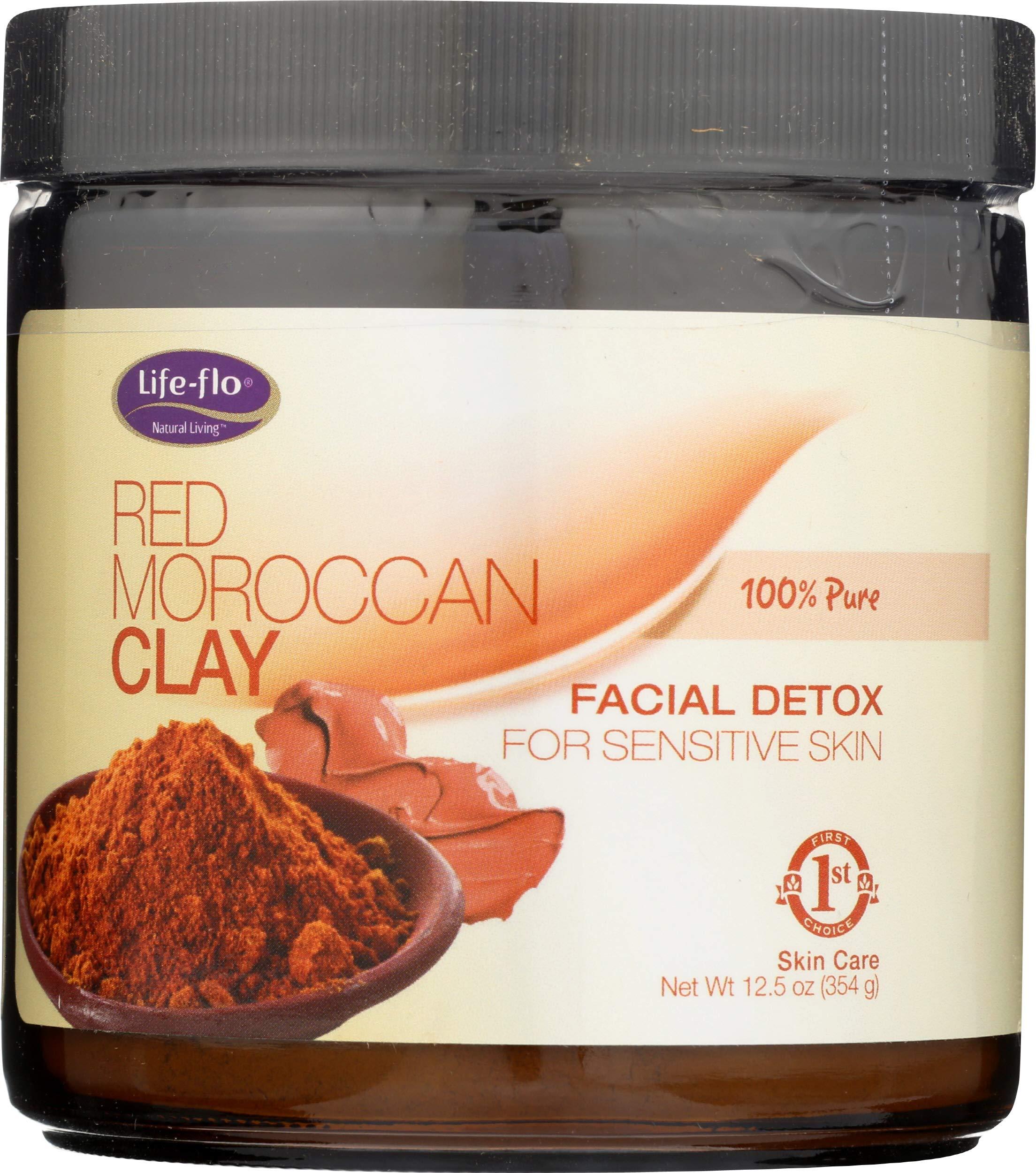 LIFE-FLO Red Moroccan Clay, Powder (Jar) | 12.5oz