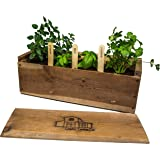 "Vintage Wooden Window Garden Planter Box Kit - 17""x 6"" x 6"""