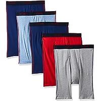 Hanes Men's 5-Pack Sports-Inspired Long Leg Boxer Brief