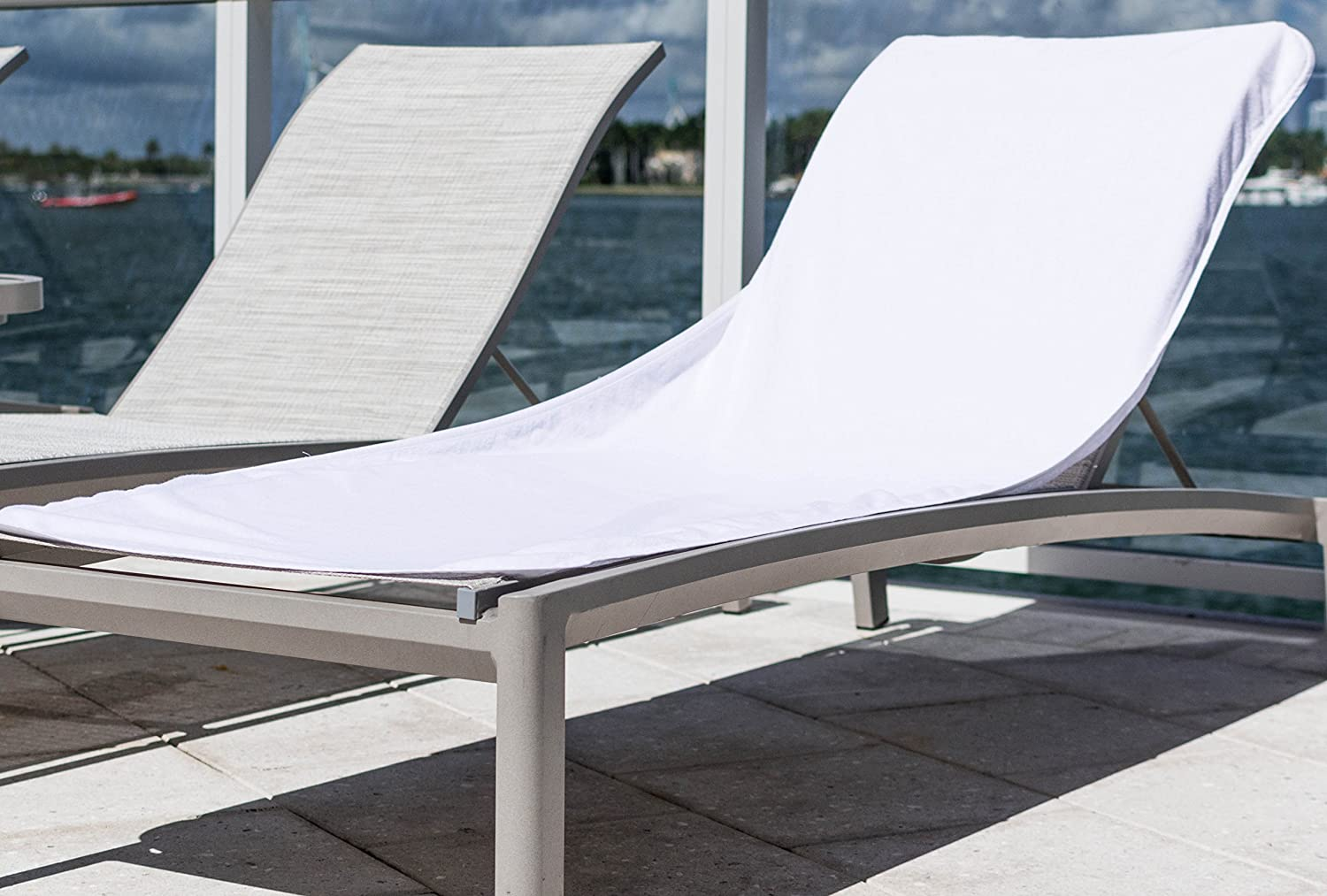 Amazon com hospitality supply inc luxury hotel pool towel usa cotton lounge chair cover chaise terry cover garden outdoor