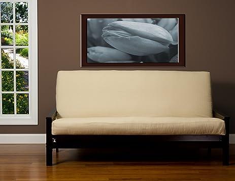 sis cover linen cream futon cover fabric  removable futon cover fabric only  futon frame amazon    sis cover linen cream futon cover fabric  removable      rh   amazon