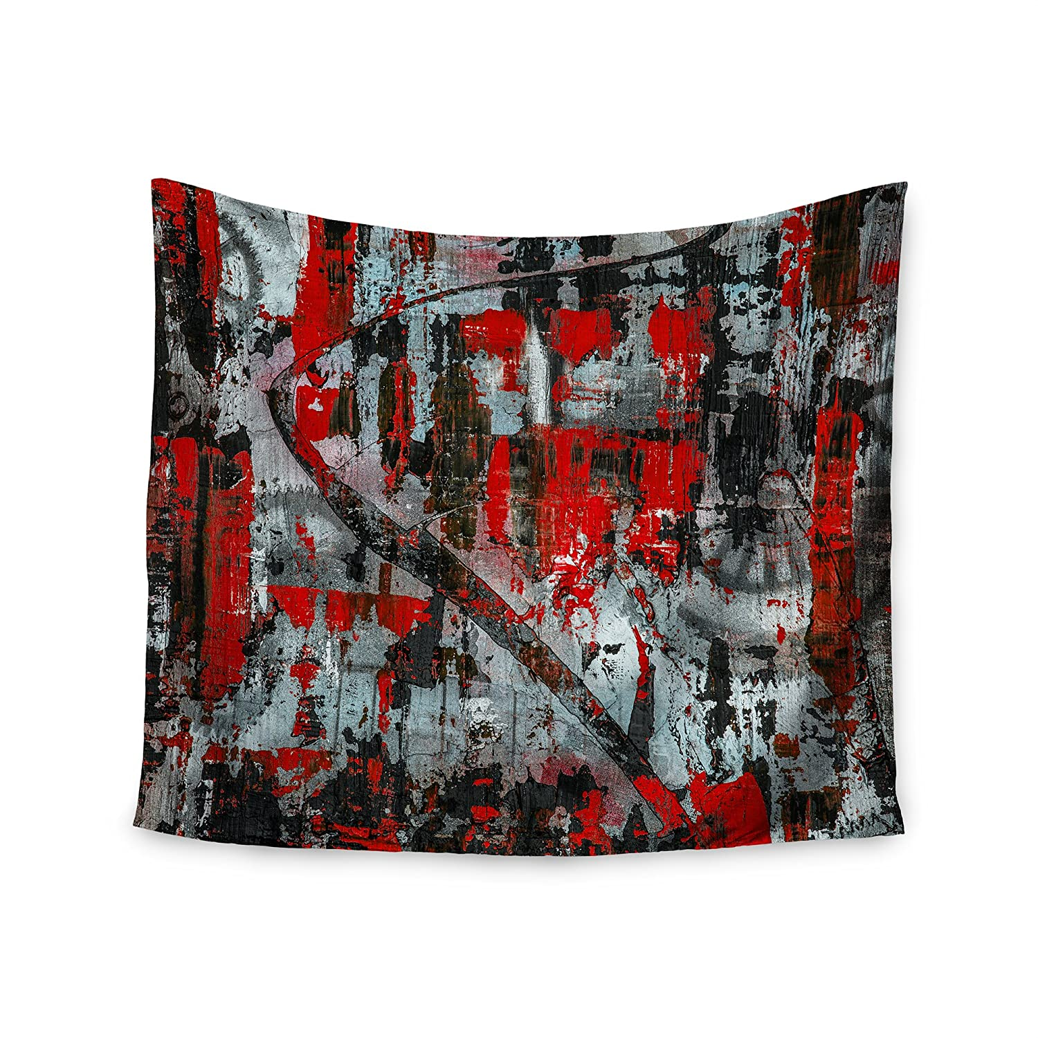 51 x 60 Kess InHouse Bruce Stanfield Zinger in Red Black Abstract Wall Tapestry