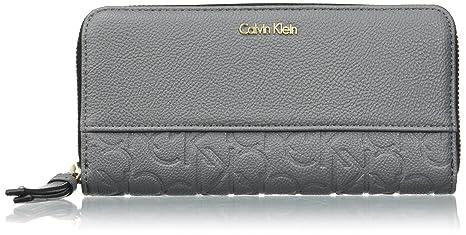 Calvin Klein - Misha Large Ziparoun, Carteras Mujer, Nero (Steel Grey),