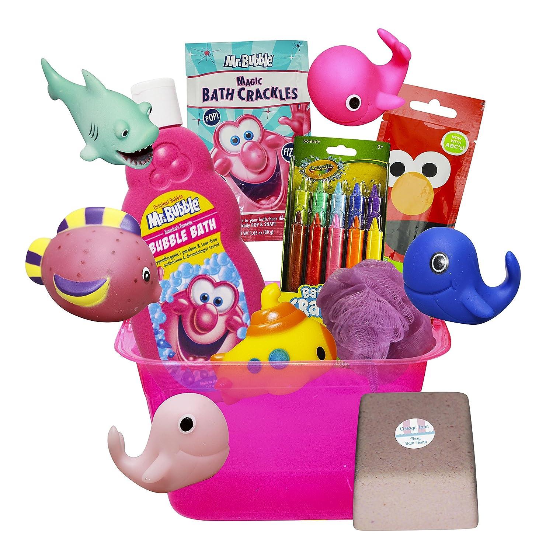 Amazon.com: Bath Toys Storage Organizer for Girls Deluxe Gift Set ...