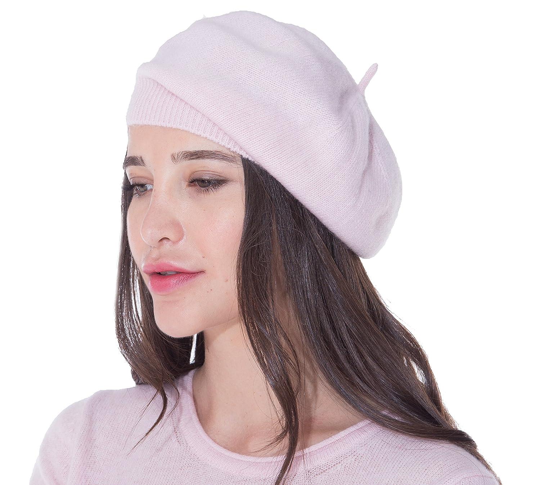 cashmere 4 U B/éret pour Femme 100/% Pur Cachemire
